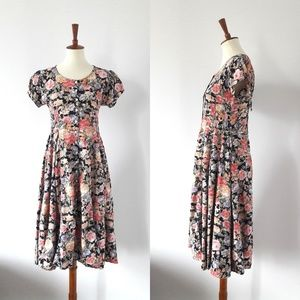 1990s Vintage Floral Dress